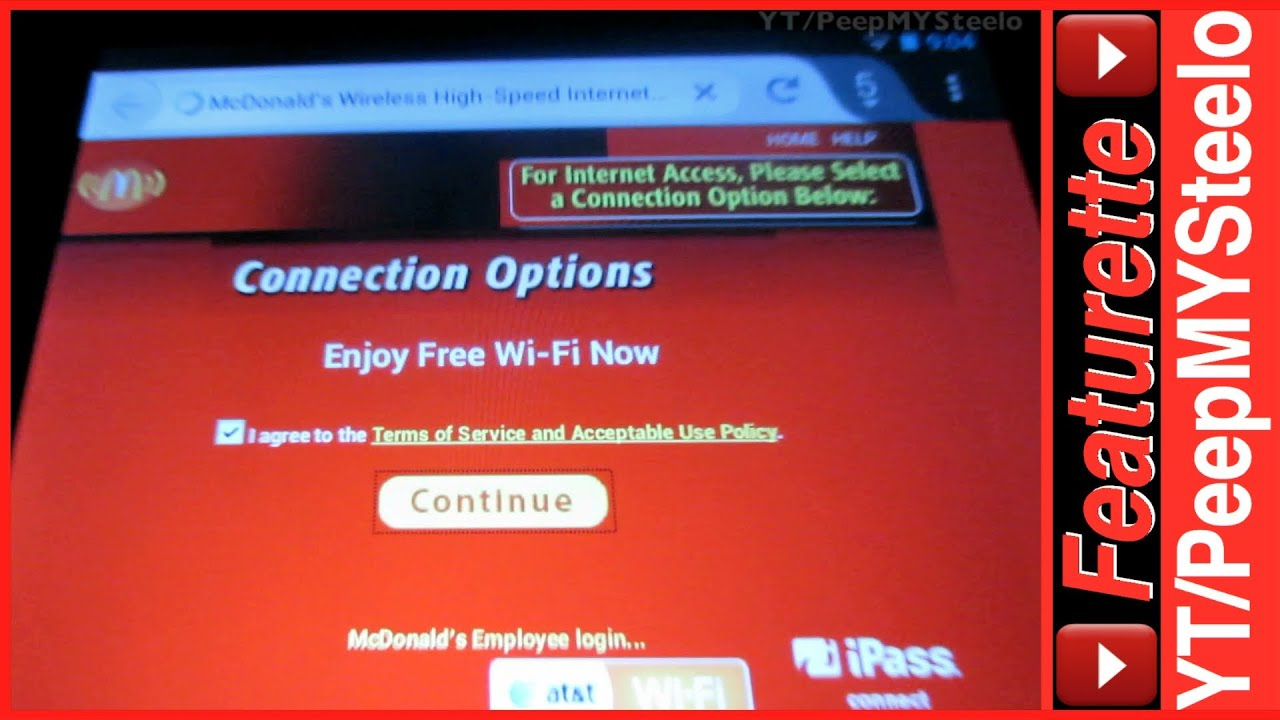mcdonalds wifi free internet access at nearby locations steps on