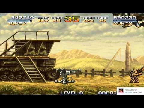 Metal Slug 3 Level 8 Game Playthrough Solo Two Players Play