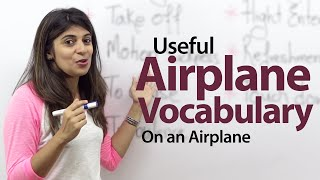 On an Airplane - English Vocabulary Lesson