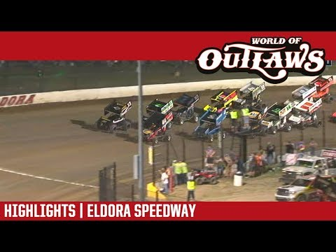 World of Outlaws Craftsman Sprint Cars Eldora Speedway July 14, 2018 | HIGHLIGHTS