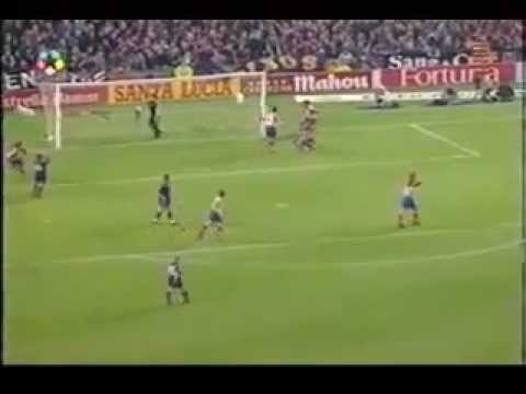 BARCELONA 1 - ATLETICO 3 - 1996 DOBLETE - AUDIO SER - INOLVIDABLE  CAMINERO