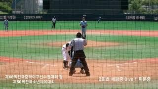 제68회전국중학야구선수권대회 겸 제50회전국소년체육대회…