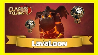 Clash of clans : (coc Th9) Lavaloon Three star attacks strategy