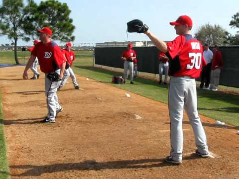 Pitchers & Catchers At Nationals Spring Training