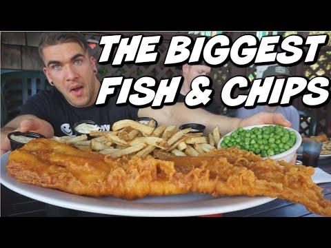 CRAZY ENGLISH FISH & CHIPS CHALLENGE! British Pub Food | MAN VS FOOD