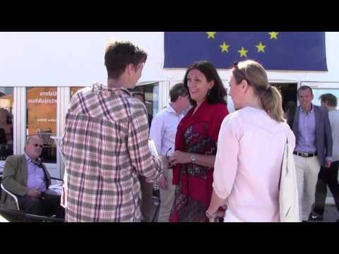 EU trade commissioner Cecilia Malmström receives the Swedish Greenwash Award 2015