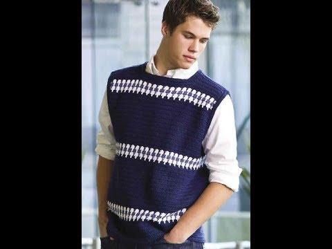 Free English Crochet Patterns For Crochet Sweater For Men 2158