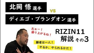 【RIZIN11】解説動画<その3>北岡悟選手 vs ディエゴ・ブランダオン選手 【マッハチャンネル】