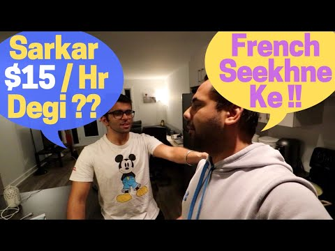 Students In Canada Earn $ 15/Hour For Learning French! Nikhil's First Day At College In Quebec!