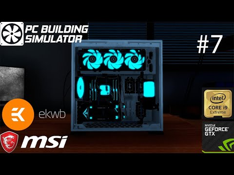 Pc Building Simulator: MSI White/Cyan Edition build