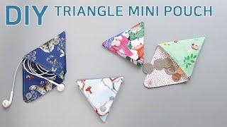 DIY Triangular coin pouch/세모파우…