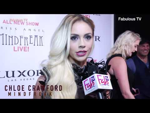 Chloe Crawford at Criss Angel's premiere of Mindfreak Live!  at the Luxor Hotel with Fabulous TV