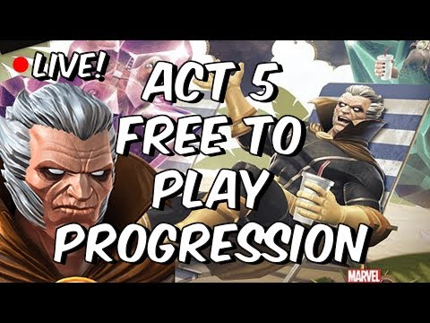 Act 5 Free To Play Progression Part 1 - Journey To The Collector  - Marvel Contest Of Champions