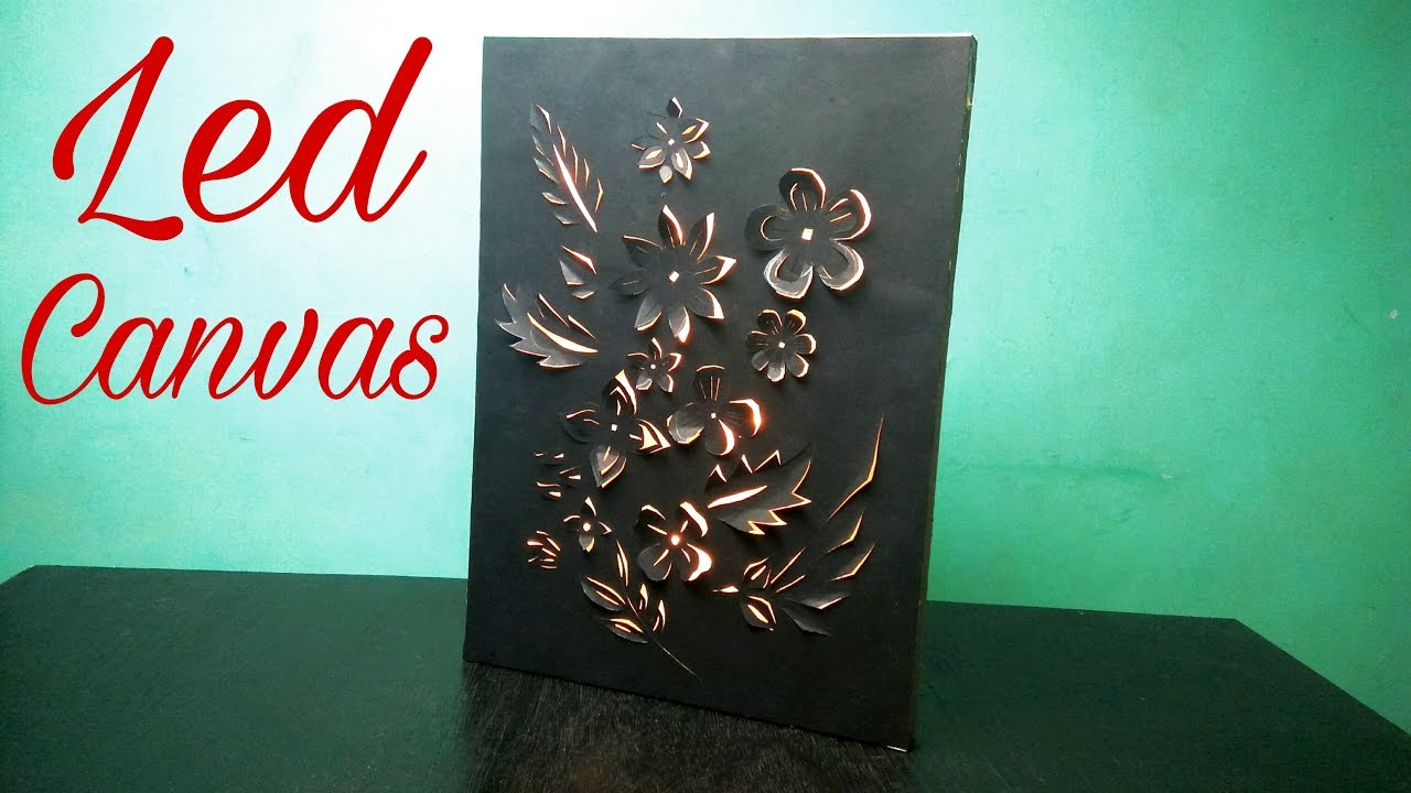 Backlit Canvas Art - Make Led Canvas Art at Home (DIY)