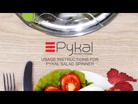 Pykal Salad Spinner Usage Instructions