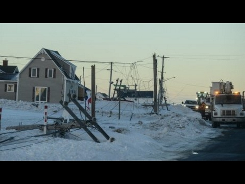 New Brunswick, six days after ice storm, power is still out in areas