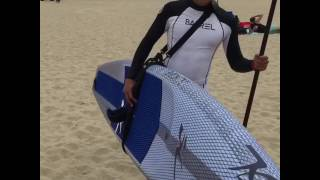 TheStrapPro.com Carry your surfboard or SUP faster and easier to the beach
