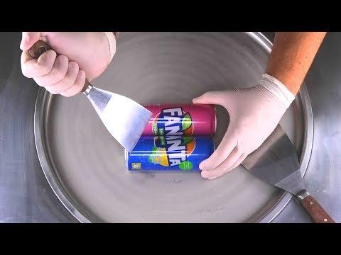 Fanta Ice Cream Rolls | how to make Fanta Lychee & Fanta Shokata to delicious fried Ice Cream - ASMR