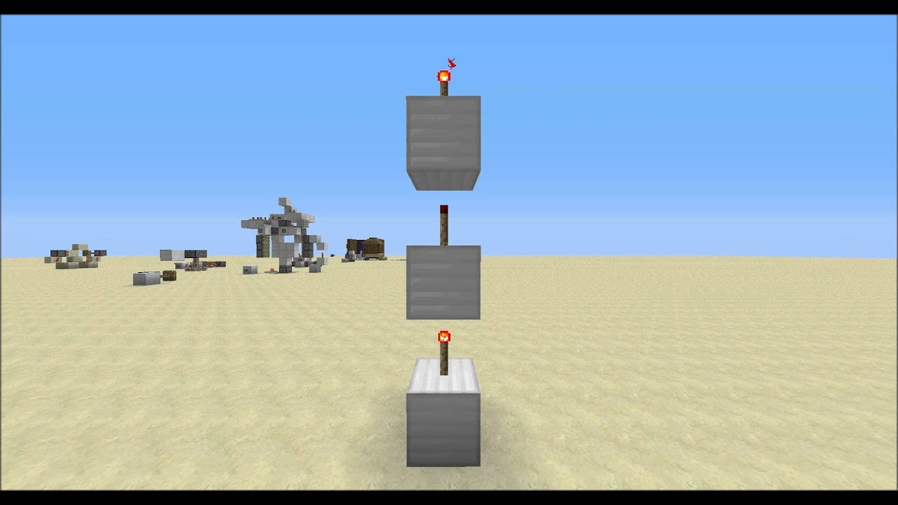 [How to get a Redstone signal down] Straight down!!! (1*2)