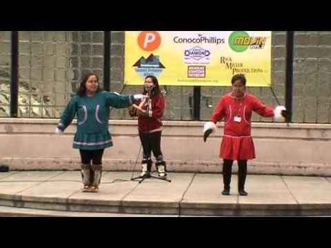 Athabascan Song and Dance in Downtown Anchorage