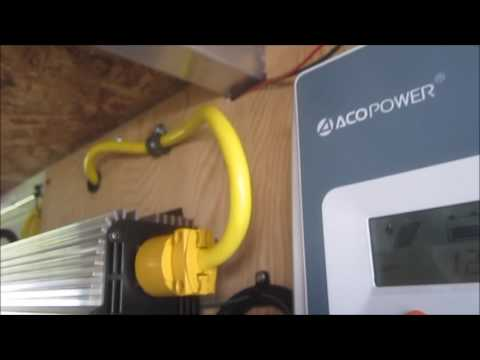 495 watts of solar, 2000 watt pure sinewave inverter overview in a 19ft Cougar