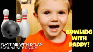 TODDLER GOES BOWLING!! BOWLING WITH A TODDLER! KID BOWLING & ARCADE WITH DADDY!