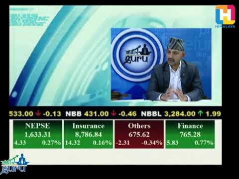 Anjan Raj Poudyal, Past President of Stock Brokers' Association of Nepal in Himalayan Tv