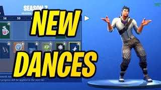 ALL *NEW* SKINS & DANCE/EMOTES SEASON 7! Fortnite Battle Pass