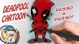 Como desenhar DEADPOOL CARTOON (Marvel Comics) - PASSO A PASSO