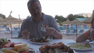 Ужин в отеле Hawaii Beach Club. Питание в Тунисе. Шведский стол. Тунис 2017.