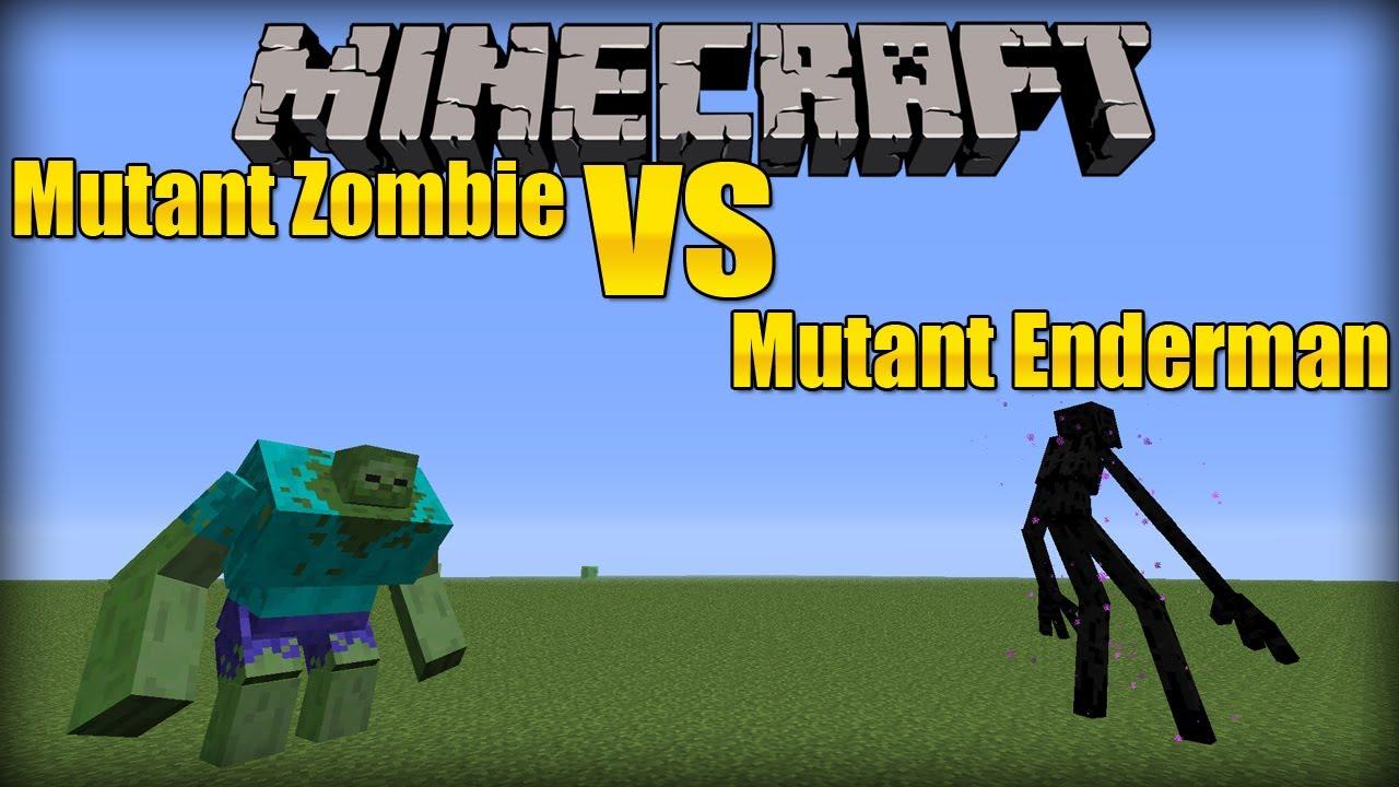 Mutant Zombie VS Mutant Enderman MVM BATTLE YouTube - Minecraft spielerkopfe erstellen