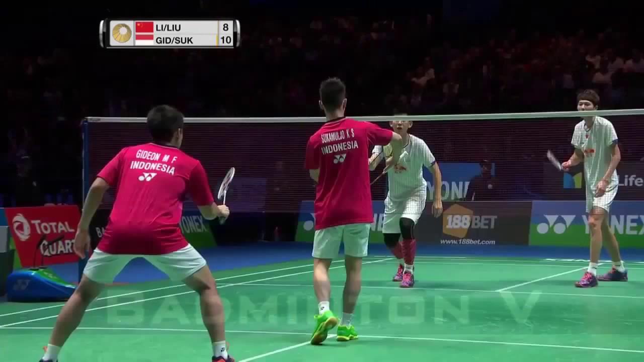 ALL ENGLAND 2017 FINAL LI Junhui LIU Yuchen CHN VS Kevin Sanjaya