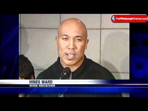 Hines Ward Welcomes Korean Children