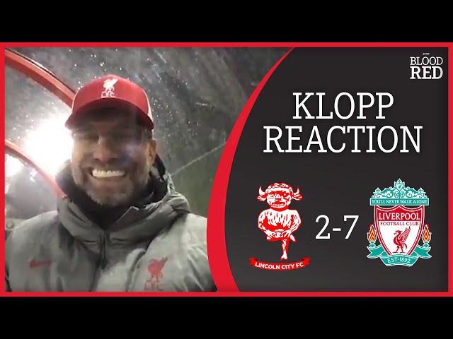 """I LOVED TAKI'S GAME"" | Jurgen Klopp Post-Match Press Conference | Lincoln City 2-7 Liverpool"