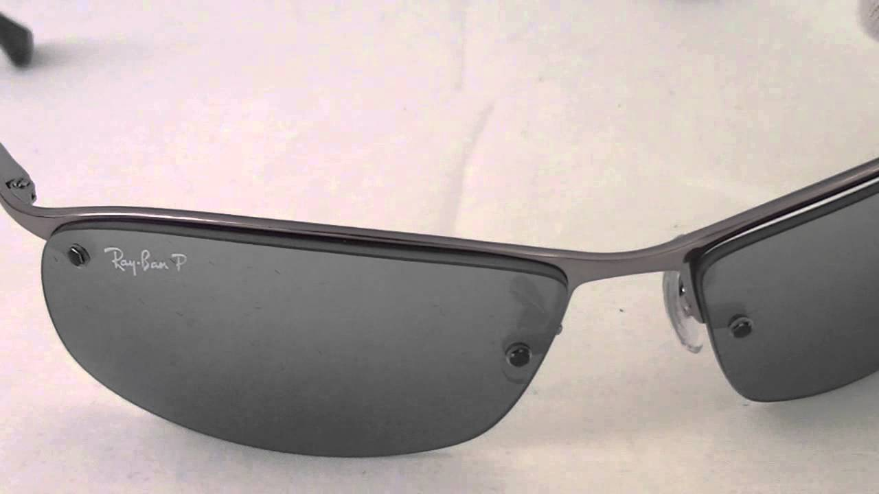 Ray Ban Rectangular Sunglasses RB3183 004:82   YouTube