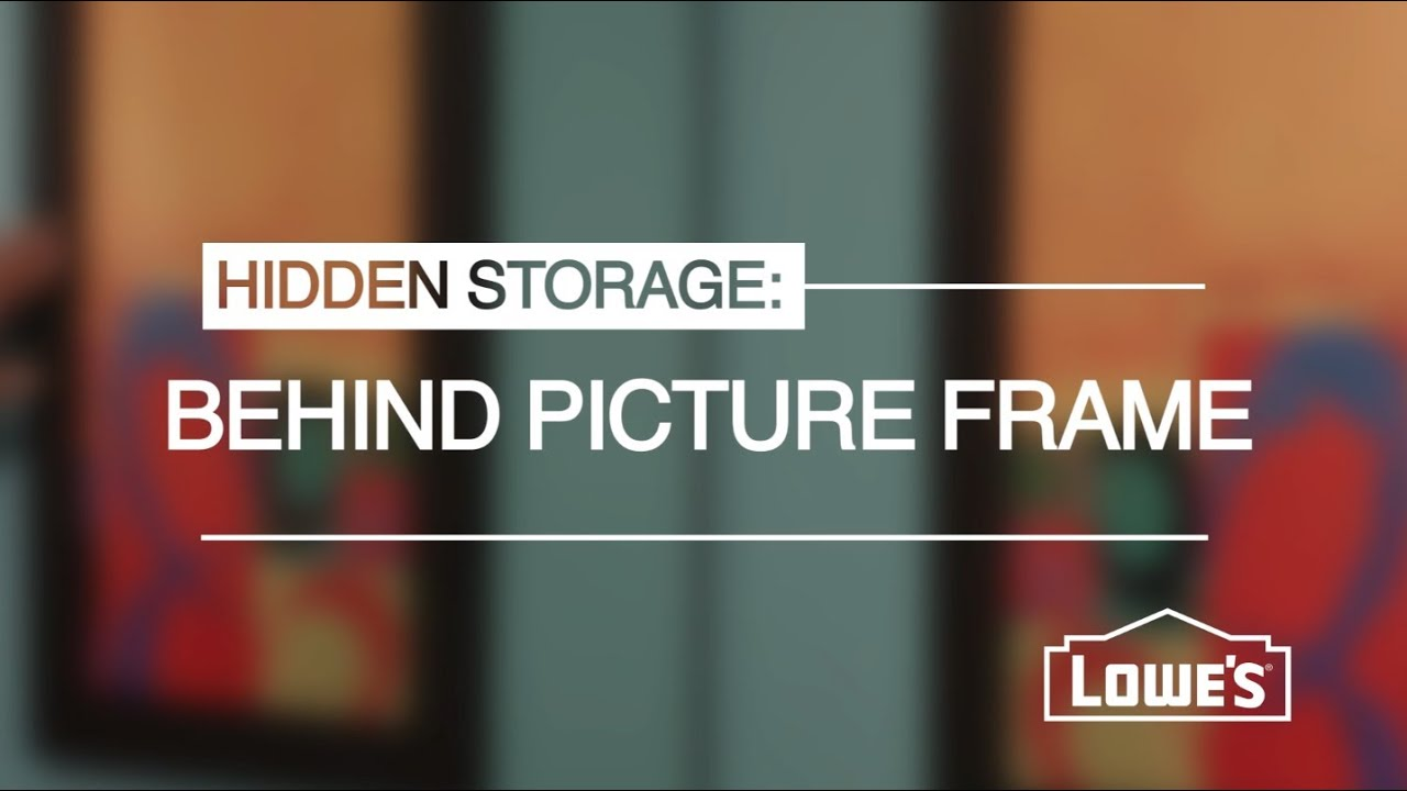 Hidden storage behind a picture frame youtube - Bathroom mirror with hidden storage ...