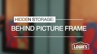 Hidden Storage Behind A Picture Frame