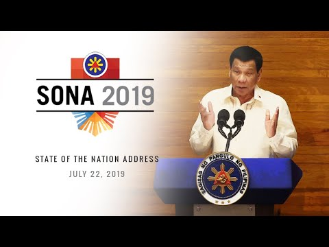 President Rodrigo Duterte delivers his 4th State of the Nation Address (SONA)  |  July 22, 2019