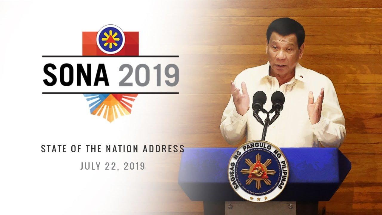 President Rodrigo Duterte delivers his 4th State of the