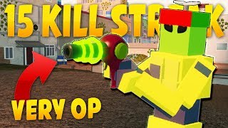 This ray gun is way to overpowered (15+ KILL STREAK)! Bad Business | ROBLOX