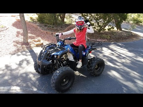 Kids on their new ATVs - TaoTao Coolster 125 (135D)