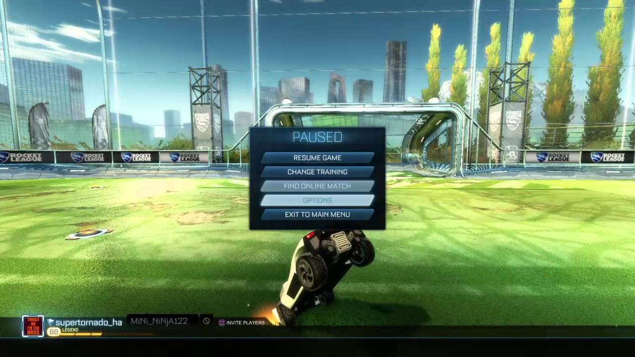 Rocket league free style controller setting