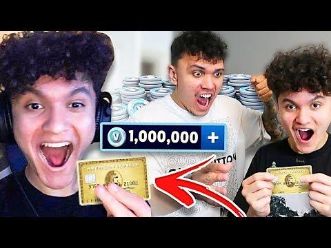 Kid Buys 1,000,000 V BUCKS With Brothers Credit Card... (FORTNITE PRANK)