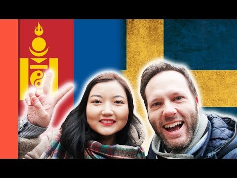 Language challenge - Swedish vs Mongolian - From Stockholm Old Town