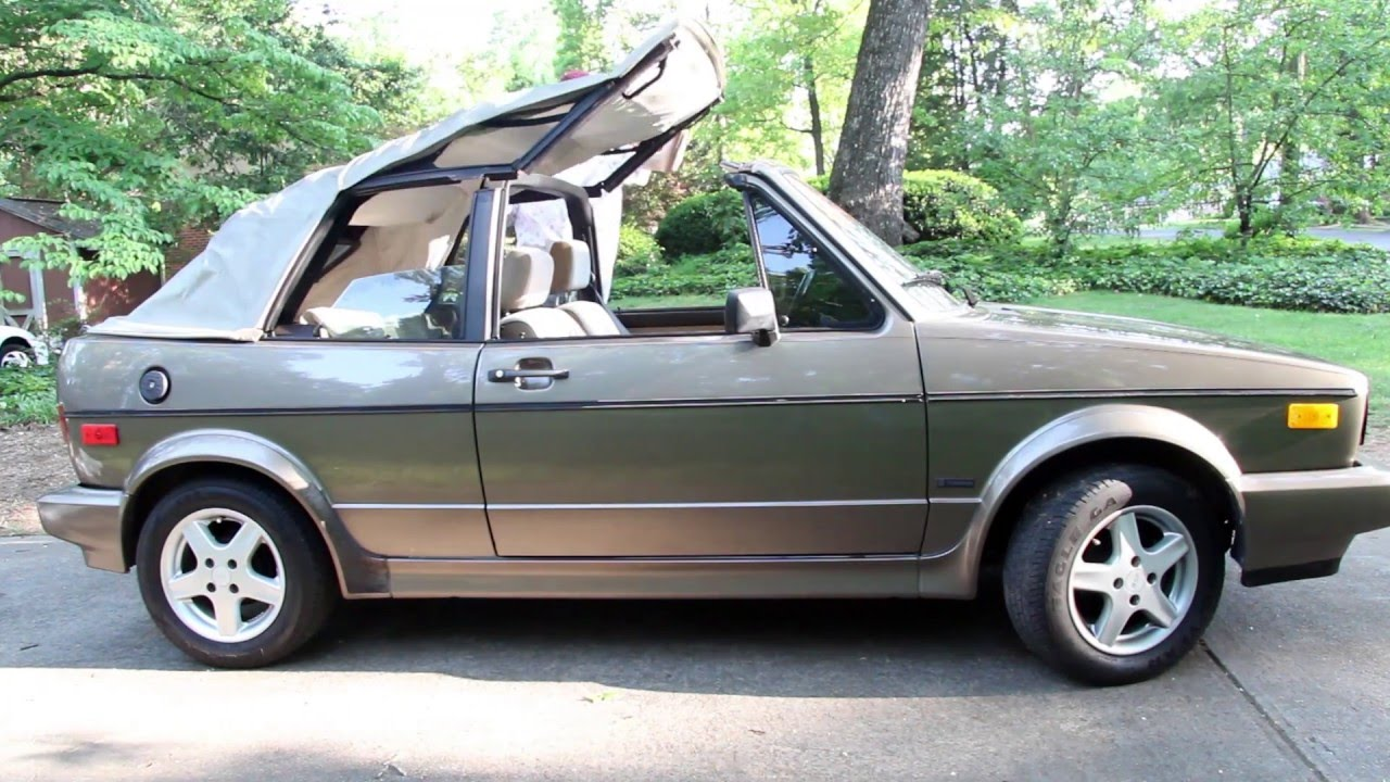 Volkswagen Golf 1989 Introducing The 1989 Vw Cabriolet Retro Review 89 Volkswagen Cabriolet Convertible