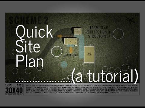 Quick, Sketch Rendered Site Plan Tutorial
