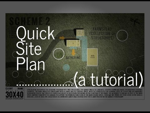 Quick Sketch Rendered Site Plan Tutorial YouTube – Rendered Site Plan