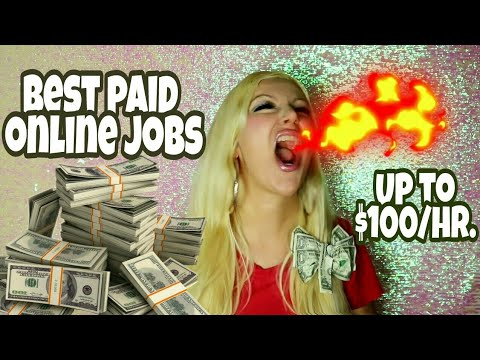 Best Paid Online Jobs From Home - Up To $100 Per Hour | Highest Paid Jobs From Home