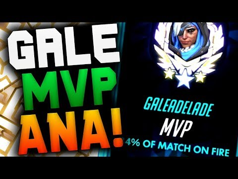 GALE ANA MVP! RANK 84 ANA GAMEPLAY! [ OVERWATCH SEASON 18 TOP 500 ]