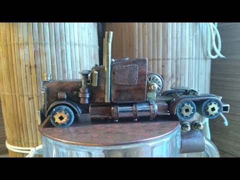 """Steampunk. Пивная кружка """"Мечта дальнобойщика"""". (Модель американского тягача Peterbilt),своими рукам"""